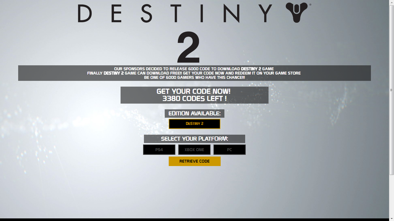 Destiny 2 CD Key Serial