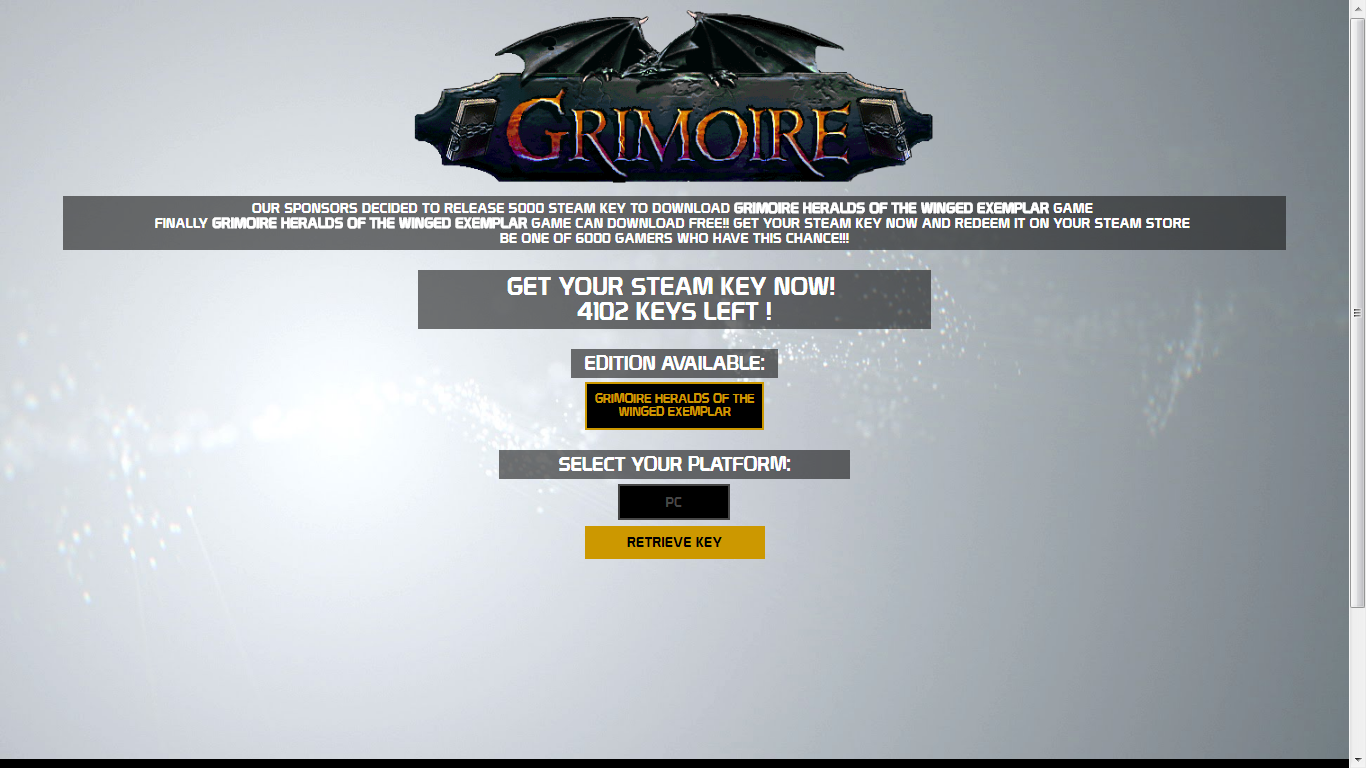 Grimoire Heralds of the Winged Exemplar Steam Key Serial