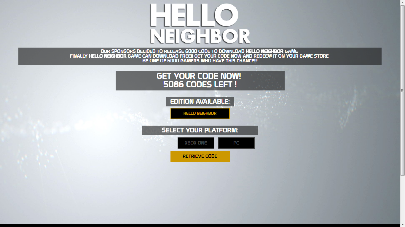 Hello Neighbor Download CD Serial Key PC XBOX ONE - Full Game