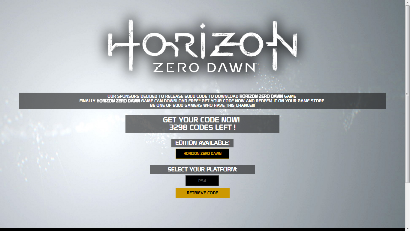Horizon Zero Dawn CD Key Serial
