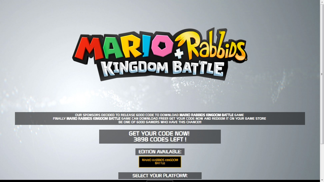 Mario Rabbids Kingdom Battle Switch Download Code